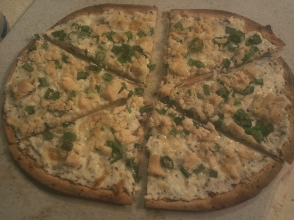 White Sauce Pita Pizza