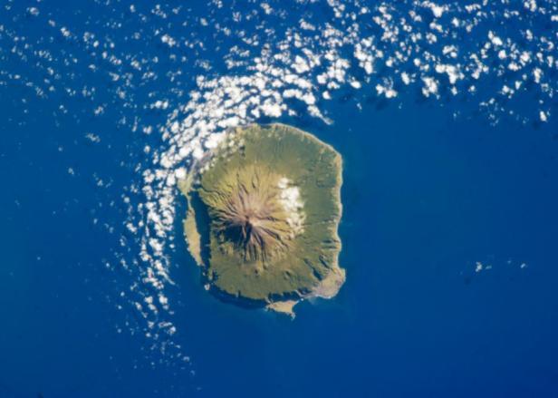 NASA image of Tristan da Cunha